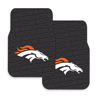 NFL Denver Broncos Rubber Car Mats (Set of 2)