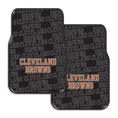 NFL Cleveland Browns Rubber Car Mats (Set of 2)