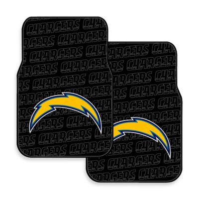 NFL San Diego Chargers Rubber Car Mats (Set of 2)