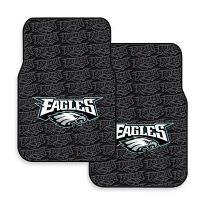 NFL Philadelphia Eagles Rubber Car Mats (Set of 2)
