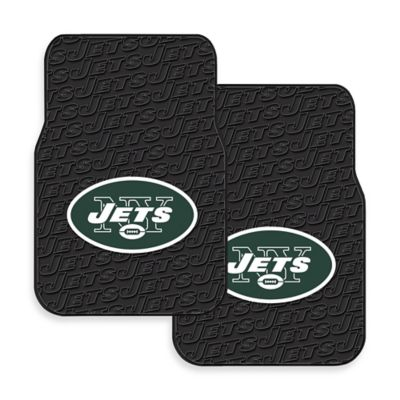 NFL New York Jets Rubber Car Mats (Set of 2)