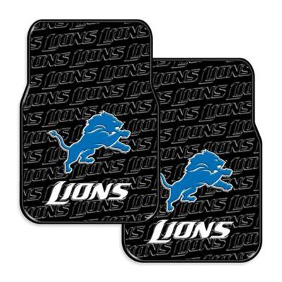 NFL Detroit Lions Rubber Car Mats (Set of 2)