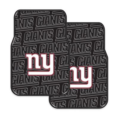 NFL New York Giants Rubber Car Mats (Set of 2)