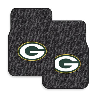 NFL Green Bay Packers Rubber Car Mats (Set of 2)