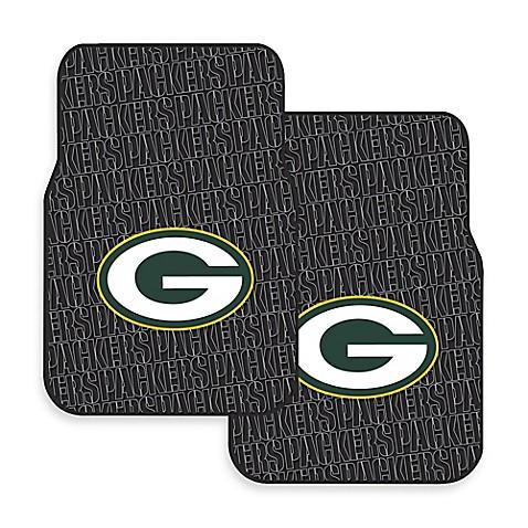 Nfl Green Bay Packers Rubber Car Mats Set Of 2 Www