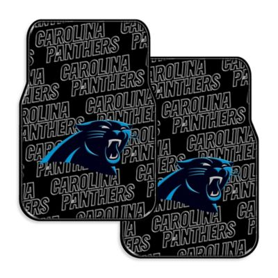 NFL Carolina Panthers Rubber Car Mats (Set of 2)