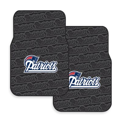 NFL New England Patriots Rubber Car Mats (Set of 2)