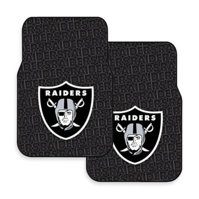 NFL Oakland Raiders Rubber Car Mats (Set of 2)