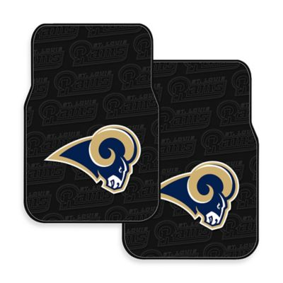 NFL St. Louis Rams Rubber Car Mats (Set of 2)