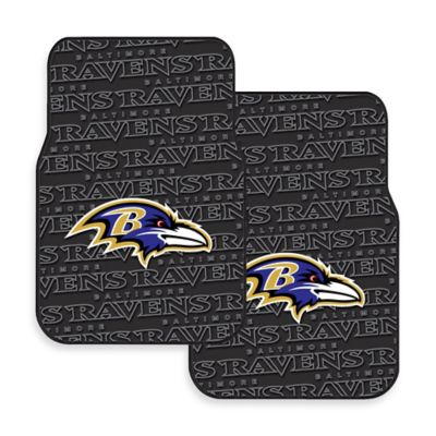 NFL Baltimore Ravens Rubber Car Mats (Set of 2)