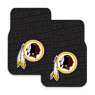 NFL Washington Redskins Rubber Car Mats (Set of 2)