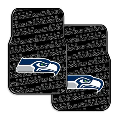 NFL Seattle Seahawks Rubber Car Mats (Set of 2)