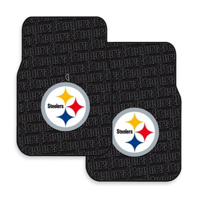 NFL Pittsburgh Steelers Rubber Car Mats (Set of 2)