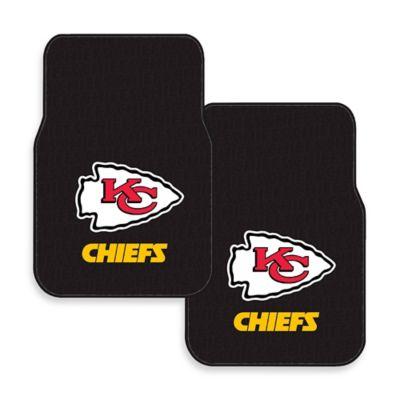 NFL Kansas City Chiefs Rubber Car Mats (Set of 2)