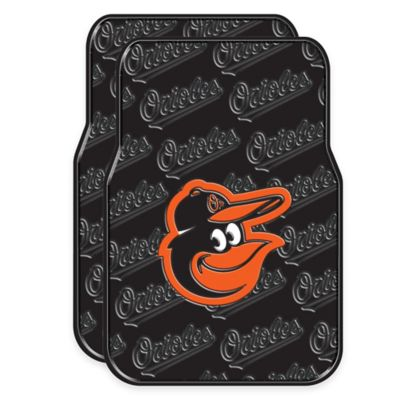 MLB Baltimore Orioles Rubber Car Floor Mats (Set of 2)