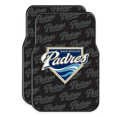 MLB San Diego Padres Rubber Car Floor Mats (Set of 2)