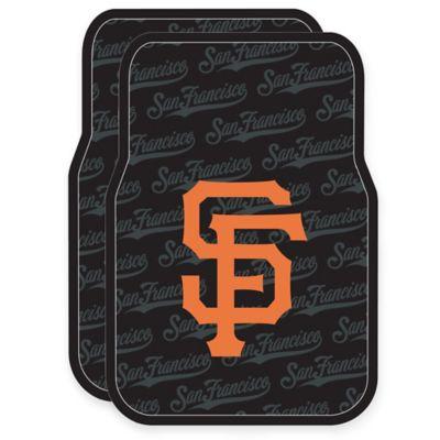 MLB San Francisco Giants Rubber Car Floor Mats (Set of 2)