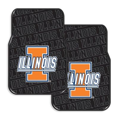 University of Illinois Rubber Car Floor Mats (Set of 2)