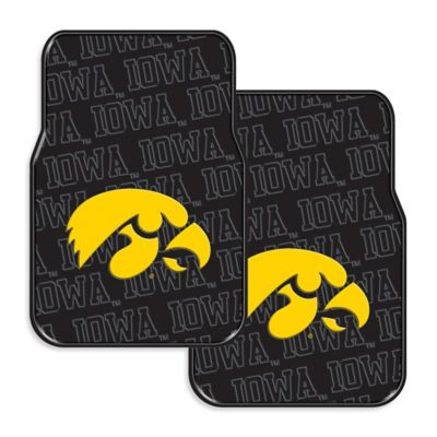 University of Iowa Rubber Car Floor Mats (Set of 2)