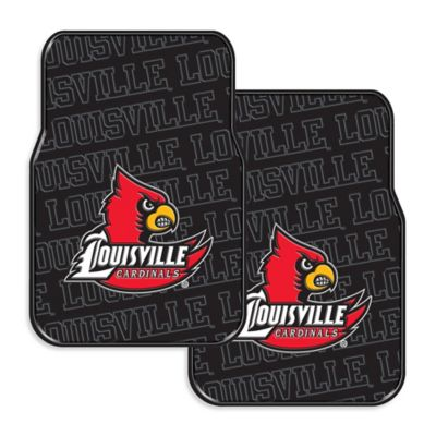 University of Louisville Rubber Car Floor Mats (Set of 2)