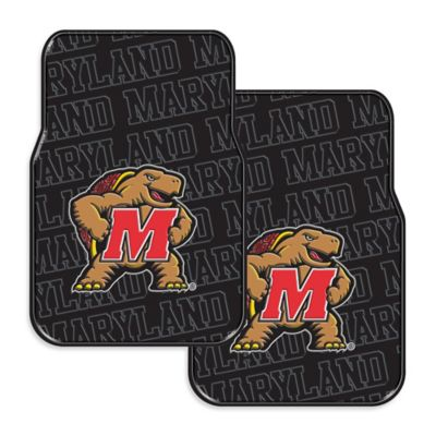 University of Maryland Rubber Car Floor Mats (Set of 2)