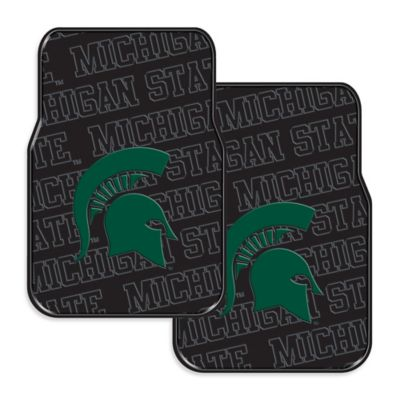 Michigan State University Rubber Car Floor Mats (Set of 2)