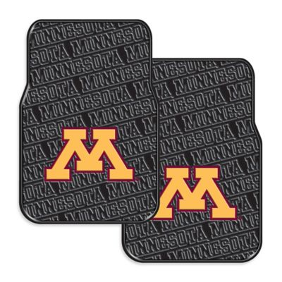 University of Minnesota Rubber Car Floor Mats (Set of 2)