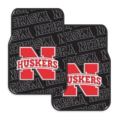 University of Nebraska Rubber Car Floor Mats (Set of 2)