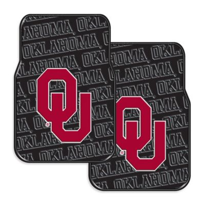 University of Oklahoma Rubber Car Floor Mats (Set of 2)