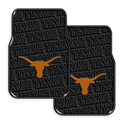 University of Texas Rubber Car Floor Mats (Set of 2)