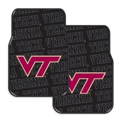 Virginia Tech Rubber Car Floor Mats (Set of 2)