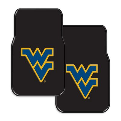 West Virginia University Rubber Car Floor Mats (Set of 2)