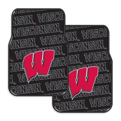 University of Wisconsin Rubber Car Floor Mats (Set of 2)