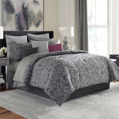 Manor Hill® Cortlandt Full Comforter Set in Grey