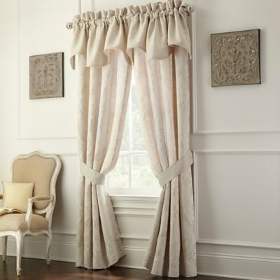 Waterford® Linens Genevieve Pole Top 84-Inch Window Panel Pair in Ivory