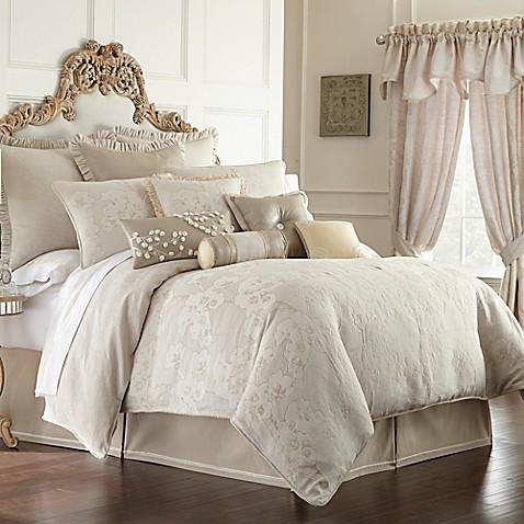 Waterford 174 Linens Genevieve Reversible Comforter Set In