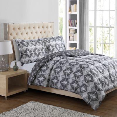 Xander Diamonds 3-Piece King Comforter Set in Grey