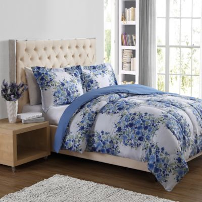 Bouquet Floral 3-Piece Full/Queen Comforter Set in White