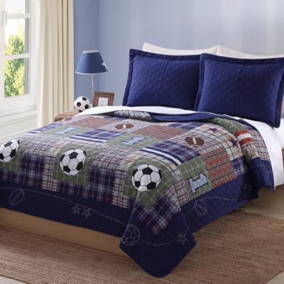 My World® Play Games Reversible Twin Quilt Set