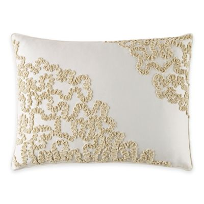 Manor Hill® Verona Twill Ribbon Breakfast Throw Pillow in Natural