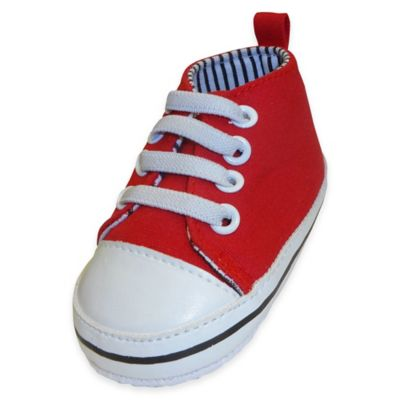 Rising Star™ Size 6-9M Canvas High Top Sneaker in Red