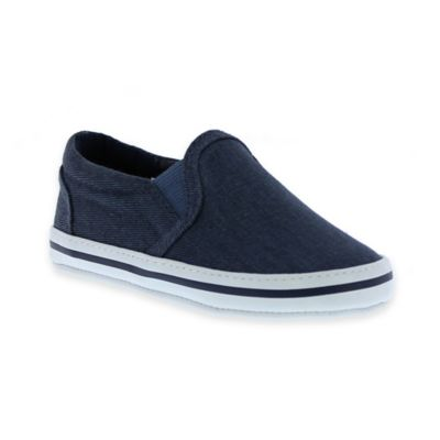 Kenneth Cole Size 3-6M Chambray Slip-On Sneaker in Navy