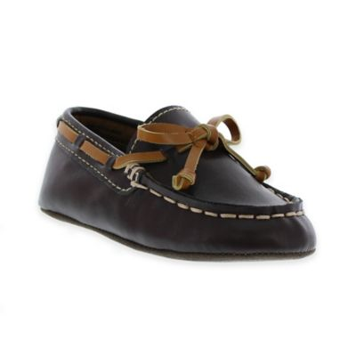 Kenneth Cole Size 3-6M Flexy Moccasin Boat Shoe in Brown
