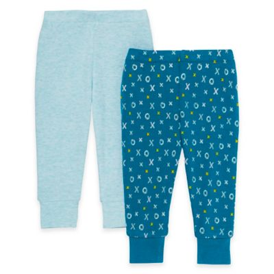 SKIP*HOP® ABC-123 Newborn 2-Pack Baby Pants in Blue