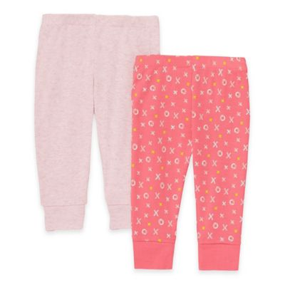 SKIP*HOP® ABC-123 Newborn 2-Pack Baby Pants in Pink