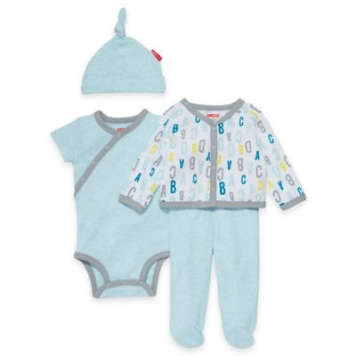 SKIP*HOP® ABC-123 Newborn 4-Piece Welcome Home Pant Set with Hat in Blue