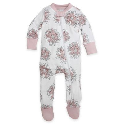 Burt's Bees Baby® Size 18M Organic Cotton Watercolor Daisy Footed Pajama in Pink
