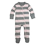 Burt's Bees Baby® Organic Cotton Size 18M Striped Footed Pajama in Pink