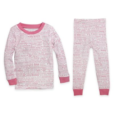 Burt's Bees Baby® Size 12M 2-Piece Organic Cotton Buzzy Bee Long-Sleeve Pajama Set in Pink