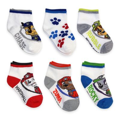 Nickelodeon™ Size 2T-4T 6-Pack PAW Patrol Quarter Socks